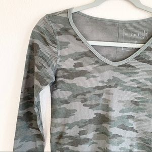 Free People Tops - We the Free People Camo Waffle Knit Thermal Top